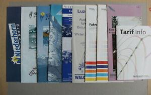 10 Swiss Switzerland Bus Tram Cable & Railway Train Timetables 1999-2003