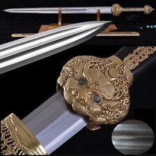 Emperor Sword Hand Forged pattern steel blade sharp Broadsword waist knife #2262