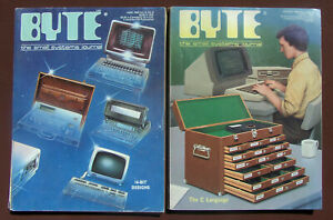 Byte Magazine - Lot of 2 ~ June 1983 Vol8 No6 and August 1983 Vol8 No8