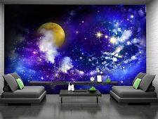 Stars-Full Moon Wall Mural Photo Wallpaper GIANT DECOR Paper Poster Free Paste