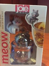 NEW Joie Meow Cat Tea Leaf Infuser & Bowl Caddy, Assorted Colors