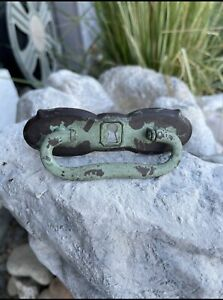 Patina Aqua Vintage Inspired Old Keyhole Drawer Handle Rusty Chippy  METAL KNOB
