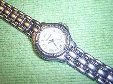"Vintage Lady SHANNONS Quartz Watch Wristwatch w/ 6.25"" Silvery Band +New Battery"