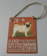 Charming Cute Pug Puppy Clever Attentive 15x20cm Metal sign Dog Pet Lover Gift
