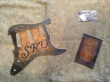 Tooled Leather Pickguard Fender Stratocaster Stevie Ray Vaughan SRV SSS Paisley