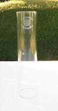"""Vintage Cylinder Glass Oil Lamp/Lantern Chimney 48mm 1 7/8"""" Fitter 20.6cm  Globe"""