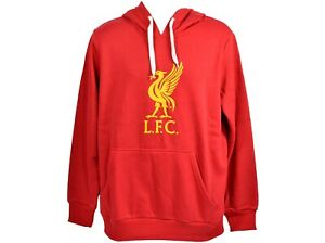 Liverpool FC Official Football Gift Mens Teenagers Fleece Graphic Hoody Blue