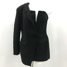 NEW House of CB Dress Women's Size Large Tuxedo Black Mini Asymmetrical 332535
