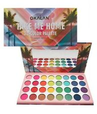 Okalan Take Me Home 32 Color Eyeshadow Palette Bright Colorful Eye Matte Shimmer