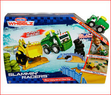 Little Tikes Wheelz Slammin Racers Scrapyard Derby Track Set +Truck STUNTS *NEW*