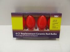 5 Packs of 4 Ceramic Red C7 Christmas Holiday Replacement Bulbs