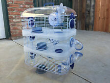 3-Solid Level Sparkle Clear Dwarf Hamster Rodent Gerbil Mice Habitat Wheel Cage