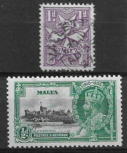 Malta 1935 + postage due selection