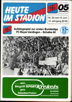 BL Relegation 82/83 FC Bayer 05 Uerdingen - FC Schalke 04, 15.06.1983