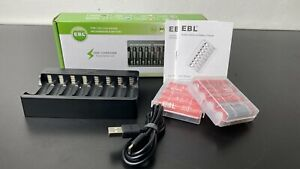 AA/AAA Battery Charger +8 3000mWh High Capacity AA Li-ion Rechargeable Batteries