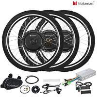 "Voilamart  Electric Bicycle E-Bike 26"" Front Rear Wheel Motor Conversion Kit"
