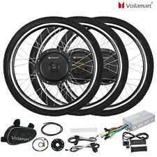 "Voilamart  Electric Bicycle E-Bike 26"" Front Rear Wheel Motor Conversion Kit"