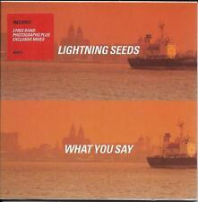 LIGHTNING SEEDS What You Say 5 Mixes 3 BAND PHOTOS Exclusive Mixes CD2 POSTCARD