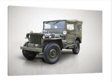 1942 Willys Jeep MB - 30x20 pollici Canvas-Foto Incorniciata stampa OPERA D'ARTE WW2