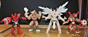 Wizards Duel Master Action Figures X4 Brand Hasbro