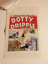 Dotty Dripple #5 Cover Art original cover proof 1948 Rare w/Printer Invoice