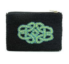 Seed Bead Black Purse with Celtic Design 13cm x 9cm