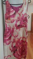 Alannah Hill Size 10  Silk pink floral dress with belt