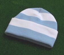 Manchester City Colori Retrò Bar Cappello-Sky Blue & BIANCO-Made in UK