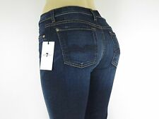 NWT 7 SEVEN FOR ALL MANKIND, The Mid Rise Skinny, Rinsed Indigo, Size 27, $198