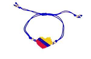 Slim Handmade Bracelet from Medellin - Miyuki Beads - Colombia Flag Colors