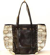 NEW LARGE LYDC COLOUR BLOCK BLACK AND SNAKESKIN HAND BAG TOTE W/ INTERNAL BAG!!!