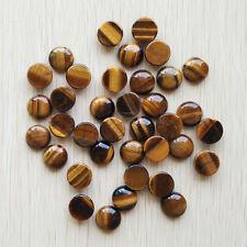 Wholesale 50pcs/lot natural tiger eye stone round CAB CABOCHON stone beads 14mm