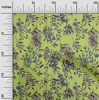 oneOone Popelina De Algodon Tela las hojas y las flores Textura-zux