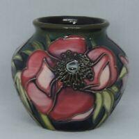 Moorcroft baluster Anemone Vase - 8cm tall