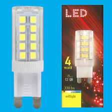 2x 4W (=35W) LED 3000K Blanc Chaud G9 Capsule Appareil Ampoule Lampe 180-260V