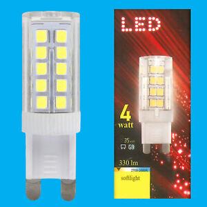 4x 4W (=35W) LED 3000K Warm White G9 Capsule Appliance Light Bulb Lamp 180-260V