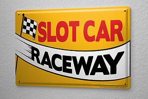Sports Tin Sign slot Car Metal Plate