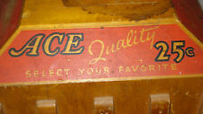 Vintage Ace Brand Purse and Pocket Combs .25 Cent Wooden Revolving Store Display