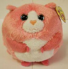 "Ty Beanie Ballz, ""Tumbles The Cat"" 2011, Pretty Pink & Round Kitty! Nwt'S!"