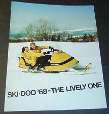 1968 SKI-DOO SNOWMOBILE 8 PAGE SALES BROCHURE NICE  (870)