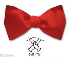 NEW Red Satin Tie to Tie Tuxedo Tux BOW TIE You tie the tie!