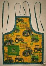 John Deer Barbeque Set With Apron Oven Mitt And Towel Handmade in the USA New