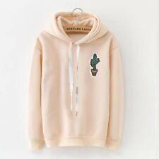 Cactus Hoodie Soft Khaki Sweatshirt Longsleeve Aesthetic Clothing Kawaii Cute