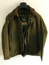 Mens Barbour Bedale wax jacket Dark Green coat 40 in size Medium / Large M/L