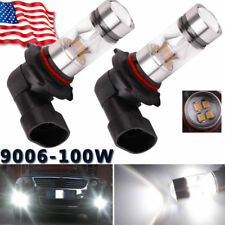 2x Super White 9006 led HB4 High Power 6000K 100W DRL Fog Light Bulbs US