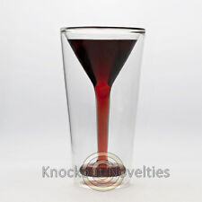 Glasstini Drink Drinking Glass Bar Cocktail Martini 5 oz Drinks Party Gift