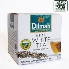 Dilmah WHITE TEA CEYLON punte d'argento (20 G) 10 sacchetti di lusso foglia di tè