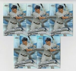 (5) Mike Tauchman 2020 TOPPS CHROME FUTURE STARS REFRACTOR LOT #FS-19 YANKEES