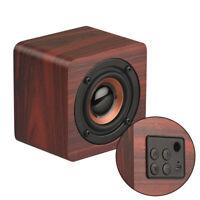 Wireless Bluetooth Speaker Mini Wooden Bass Stereo Speaker Portable Sound Box