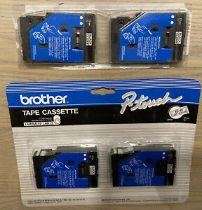 """BROTHER P-TOUCH Cartridge Labeler Tape TC-10 Black on Clear 12mm 1/2"""" - 2 pack"""